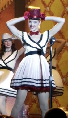 Lemon's black and white pleated dress on Hart of Dixie