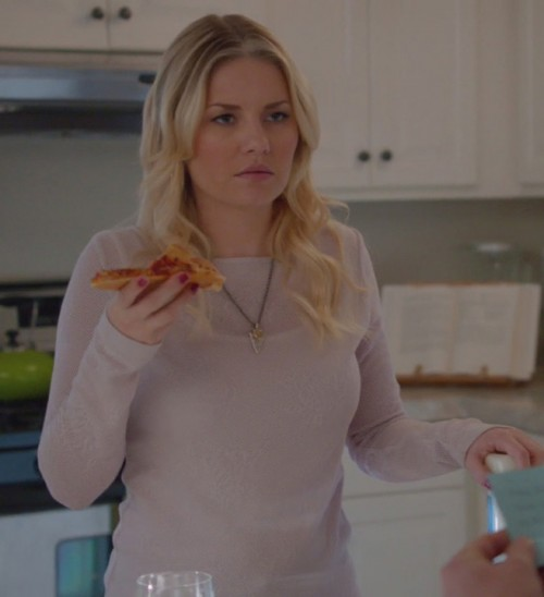 Alex's lavender sweater on Happy Endings