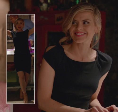 Jane's black cap sleeve dress on Happy Endings