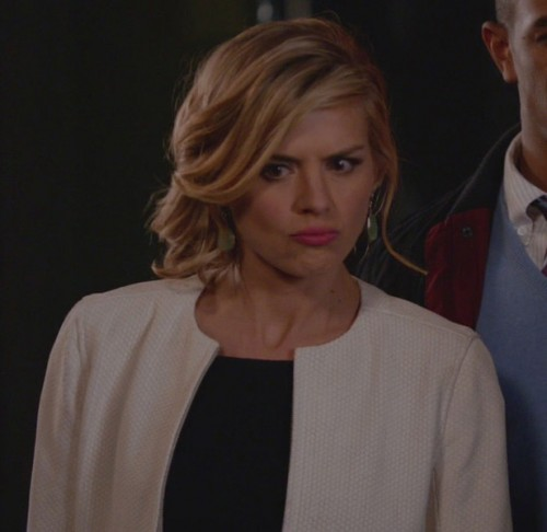 Jane's white jacket on Happy Endings