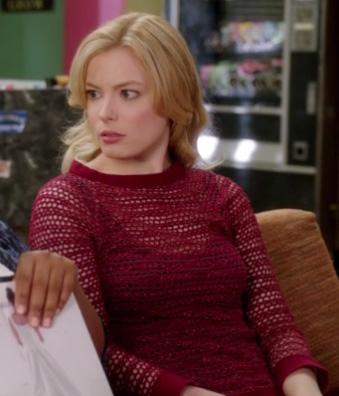 Britta's red crochet top on Community