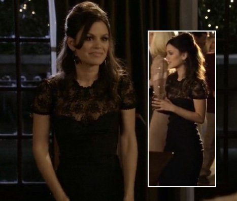Rachel Bilson in a black lace dress