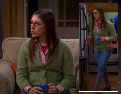 Amy's purple tights on The Big Bang Theory