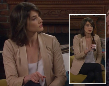 Robin's cream blazer on How I Met Your Mother