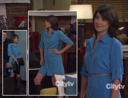 Robin's light blue shirt dress on How I Met Your Mother