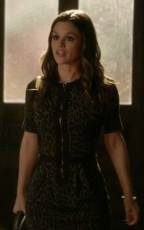 Zoe's leopard print zip up dress on Hart of Dixie