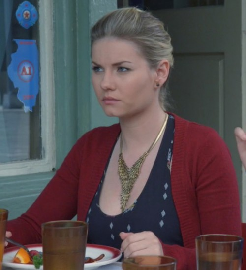 Alex's gold necklace on Happy Endings