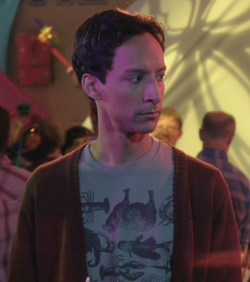 Abed's grey animal shirt on Community