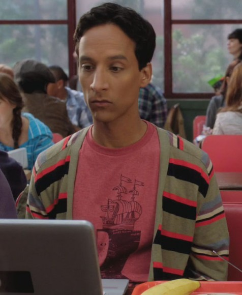 Abed's red ship shirt on Community