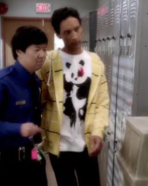 Abed's panda shirt on Community
