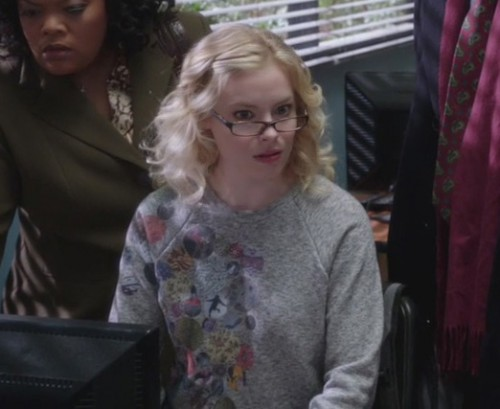 Britta's grey sweater on Community