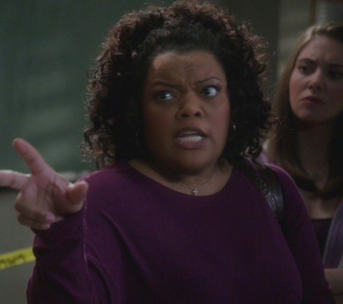 Shirley's purple sweater on Community