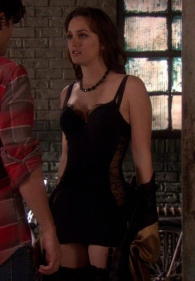 Blair's black lingerie on Gossip Girl