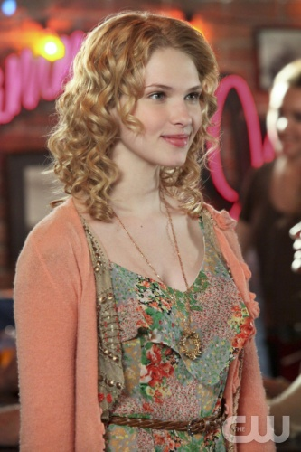 Magnolia's cropped peach cardigan with floral embellishments on Hart of Dixie