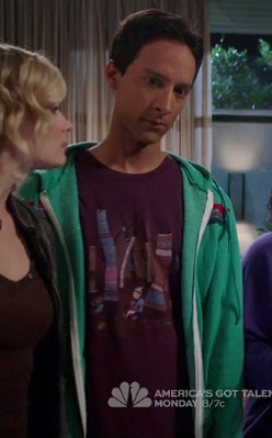 Abed's purple graphic print tee on Community