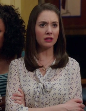 Annie's white anchor print blouse on Community