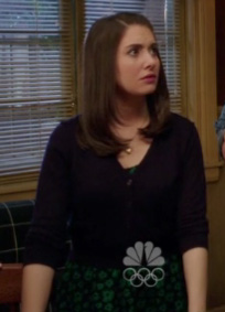 Annie's green patterned dress on Community