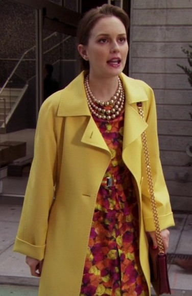 Blair's yellow coat on Gossip Girl