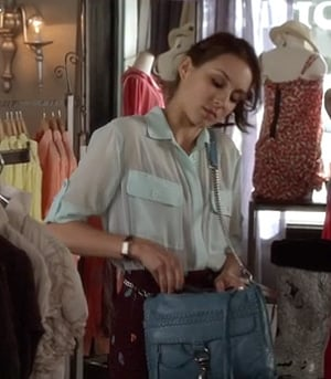 Spencer's blue bag on Pretty Little Liars