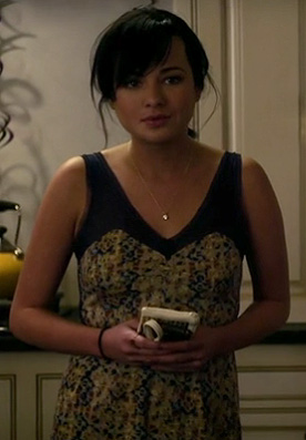 Jenna's blue sheer dress on Awkward