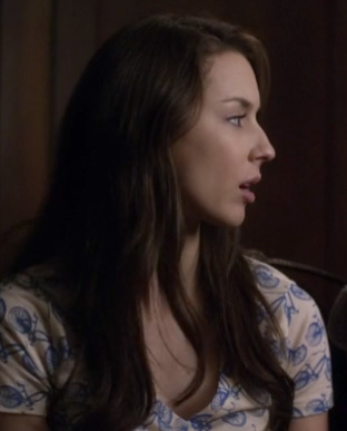 Spencer's bicycle print top on PLL