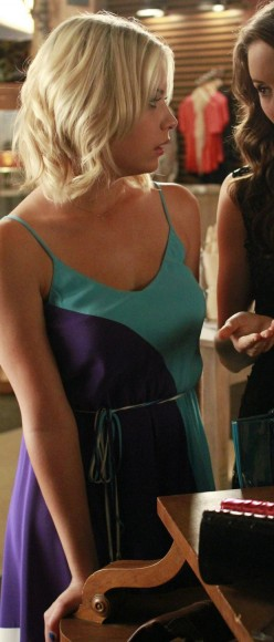 Hanna's blue and turquoise dress on PLL