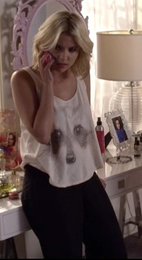 Hanna's raccoon tank  on PLL