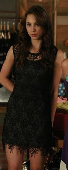 Spencer's black lace dress on PLL
