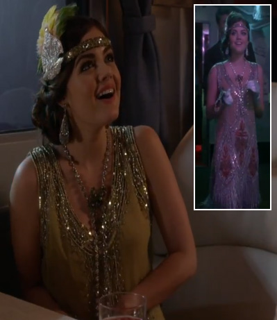 Aria's Halloween Costume (Flapper/Daisy from The Great Gatsby) on Pretty Little Liars