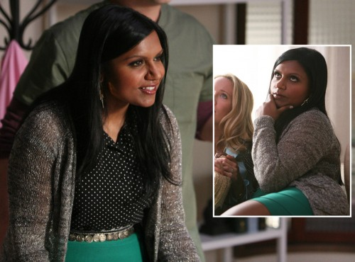 Mindy Kaling's teal green skirt on Mindy Project