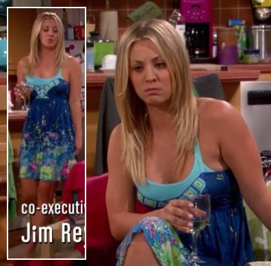 Penny's blue floral dress on The Big Bang Theory
