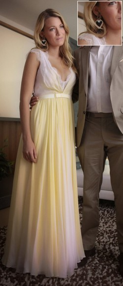Serena Van der woodsen's yellow dress on Gossip Girl