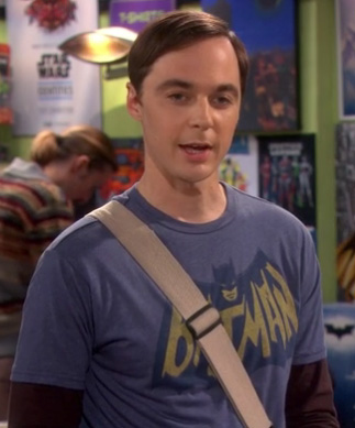 Sheldon's Batman shirt on The Big Bang Theory season 6