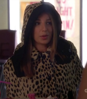 Sugar's leopard coat on Glee