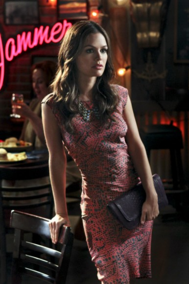 Rachel Bilsons pink and blue dot dress on Hart of Dixie