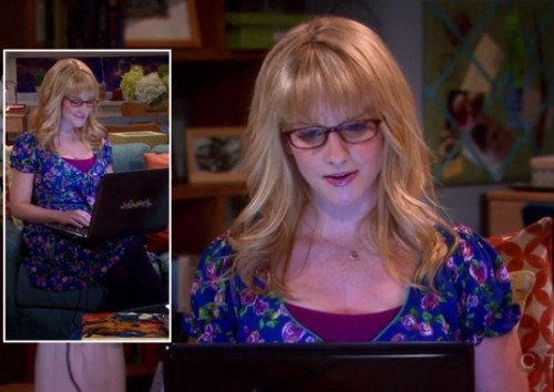 Bernadette's blue floral dress on the big bang theory