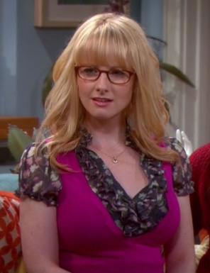 Bernadette's hot pink vest on The Big Bang Theory