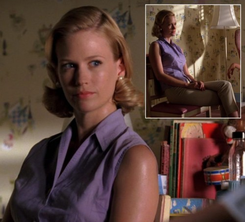 Betty Draper's purple blouse on Mad Men