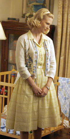 Betty's yellow shirtdress on Mad Men