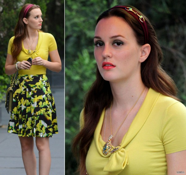 Blair's yellow outfit on Gossip Girl season 6