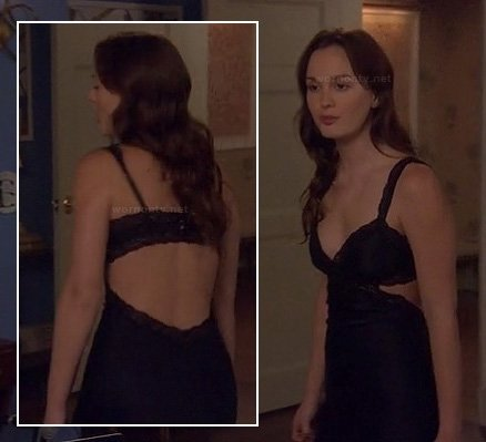 Blair's chemise with back cutout and lace on Gossip Girl