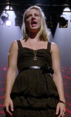 Brittany's black lace dress on Glee