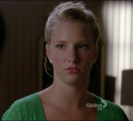 Brittany's green pointelle cardigan on Glee