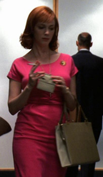 Joan's hot pink dress on Mad Men