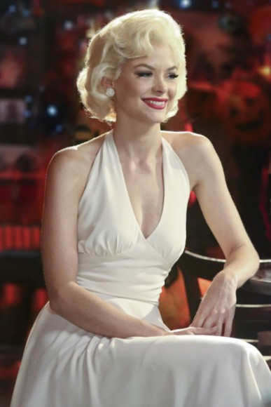 Lemon Breeland as Marilyn Monroe for Halloween on Hart of Dixie