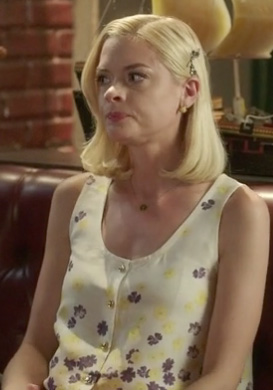 Lemon's purple and yellow flower top on Hart of Dixie