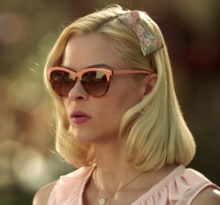 Lemon's peach sunglasses on Hart of Dixie