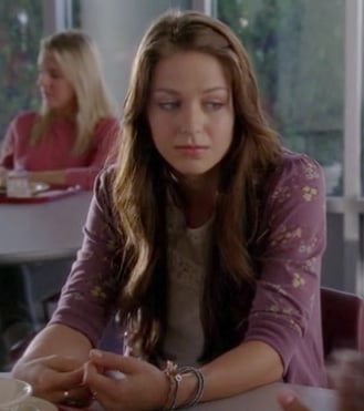 Marley Rose's purple cardigan on Glee