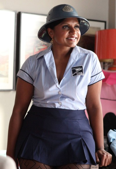 Mindy's sexy post man costume on The Mindy Project halloween episode