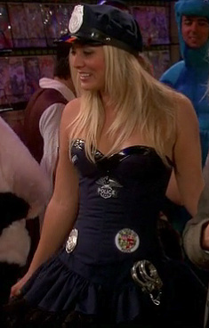 Penny's sexy cop costume on The Big Bang Theory